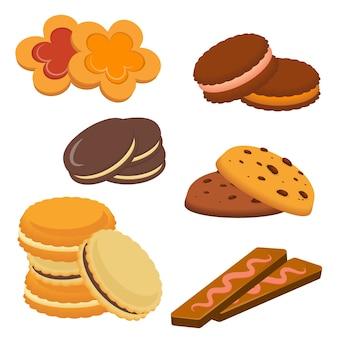 Zestaw różnych plików cookie