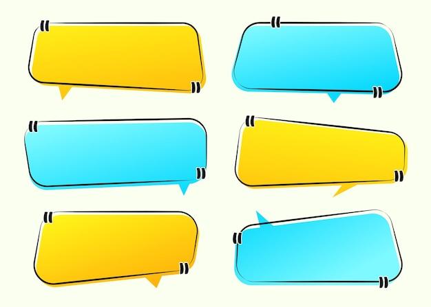 Zestaw różnych ramek notatek cytatów, kolorowe pole na tekst