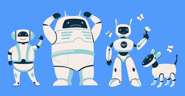 Zestaw różnych robotów