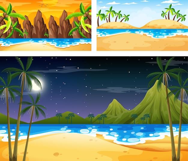 Zestaw różnych scen krajobrazu przyrody