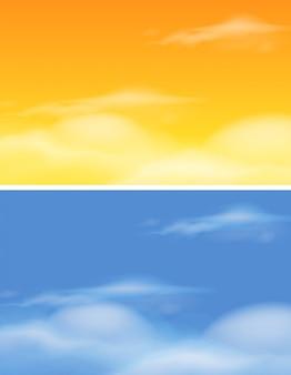 Zestaw różnych skys