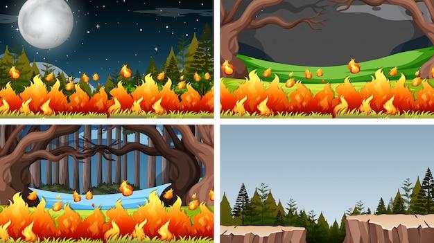 Zestaw różnych środowisk środowiska