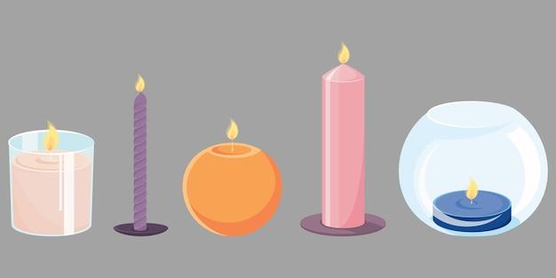 Zestaw różnych świec
