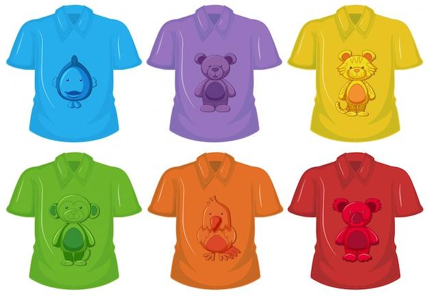 Zestaw różnych t-shirtów