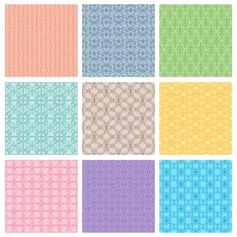 Zestaw różnych wzorów kolorów