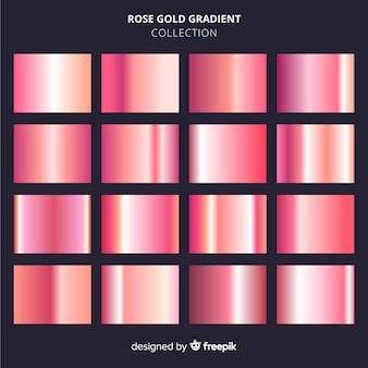 Zestaw różowego złota gradientu