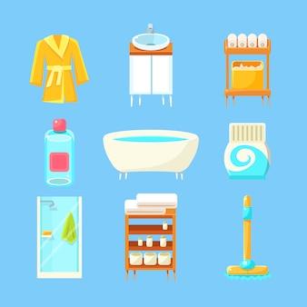 Zestaw rzeczy do łazienki