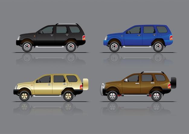Zestaw samochodów suv