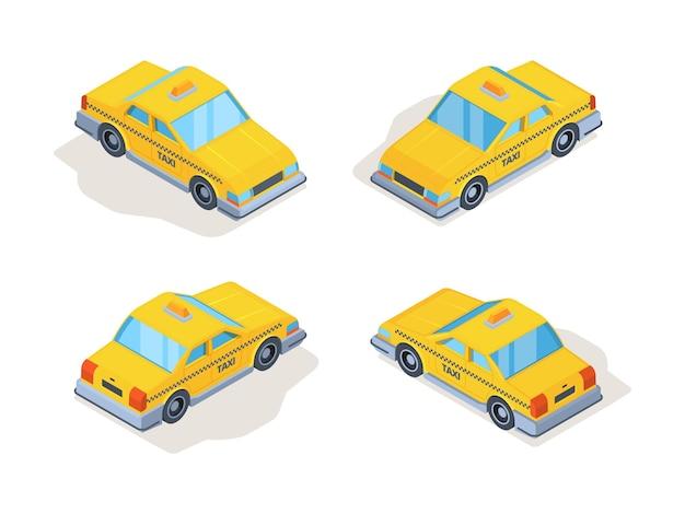 Zestaw samochodów taxi