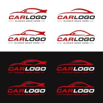 Zestaw Samochodowy, Auto, Motoryzacyjny Szablon Logo Premium Wektorów