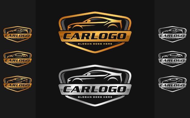 Zestaw samochodowy, szablon logo motoryzacyjny
