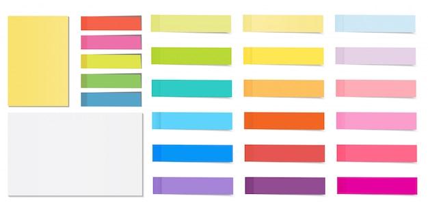 Zestaw samoprzylepnych kartek samoprzylepnych z cieniem