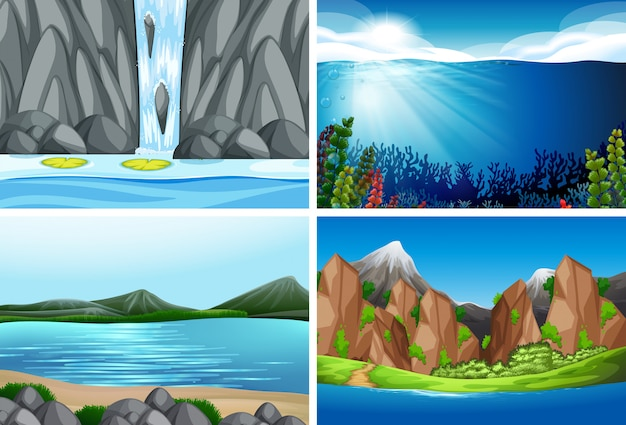 Zestaw sceny przyrody
