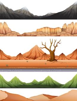 Zestaw sceny pustynnej