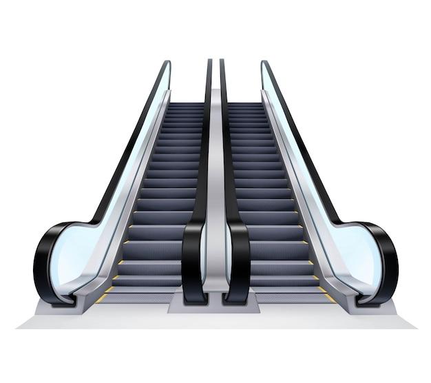 Zestaw schodów ruchomych w górę iw dół