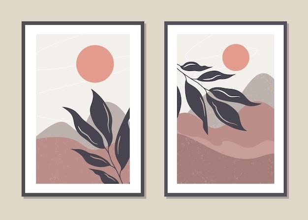 Zestaw ścienny krajobraz sztuki.