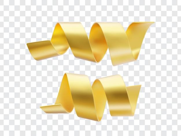 Zestaw serpentyn ze złotej wstążki