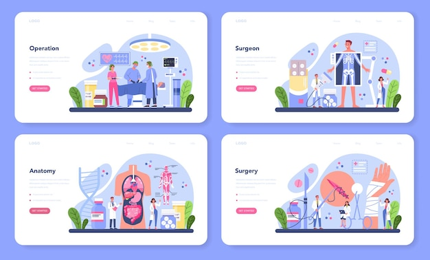 Zestaw sieciowy transparent chirurga
