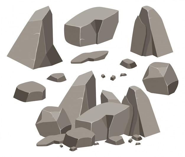 Zestaw skał i kamieni