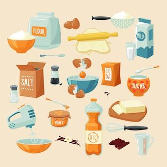 Zestaw składników do pieczenia