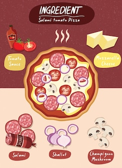 Zestaw składników pizzy żywności