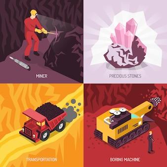 Zestaw składowy gems precious stones mining