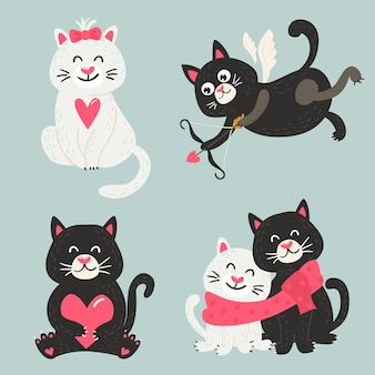 Zestaw ślicznych kotów