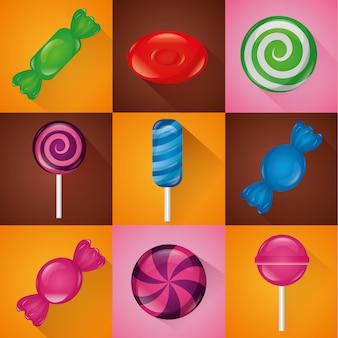 Zestaw słodkich cukierków