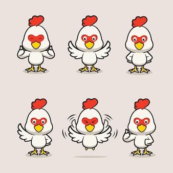 Zestaw słodkiej maskotki z kurczaka