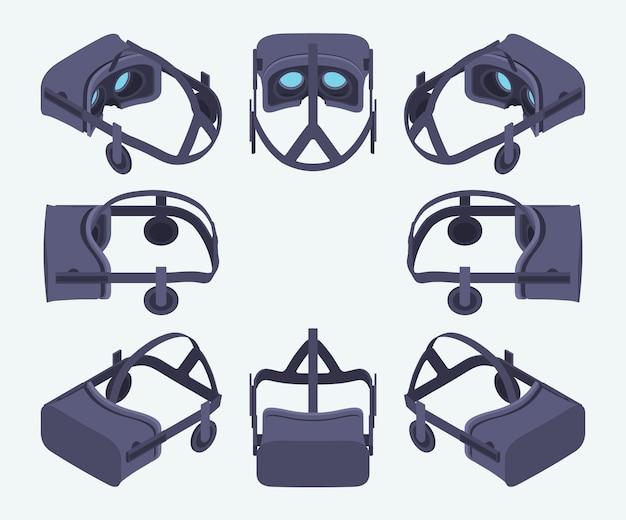 Zestaw słuchawek wirtualnej rzeczywistości izometrycznej