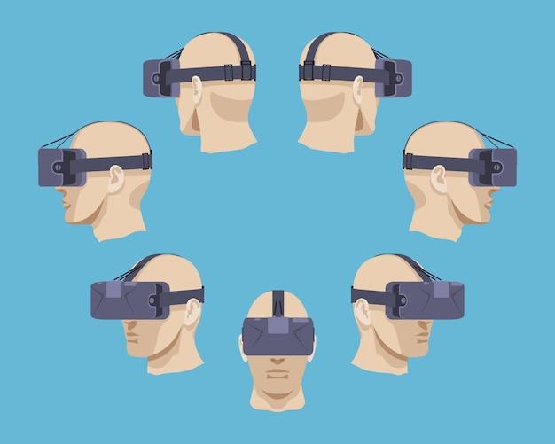 Zestaw słuchawek wirtualnej rzeczywistości