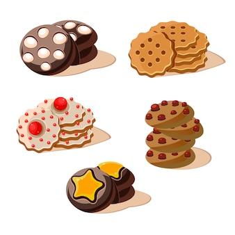 Zestaw smaczne ciasteczka