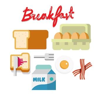 Zestaw śniadaniowy.