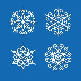 Zestaw śniegu zima dekoracji płatki śniegu