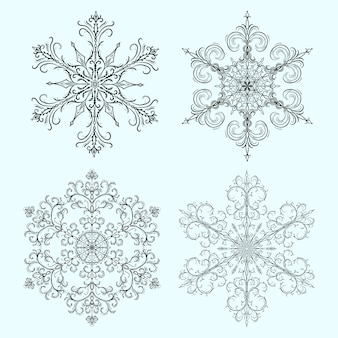 Zestaw śnieżynka na boże narodzenie