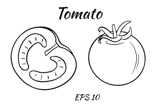 Zestaw soczystych pomidorów.