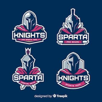Zestaw spartańskich etykiet
