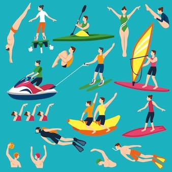 Zestaw sportów wodnych i działań