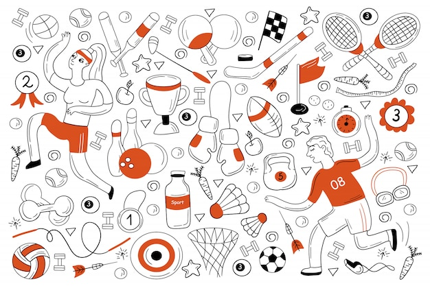 Zestaw sportowy doodle