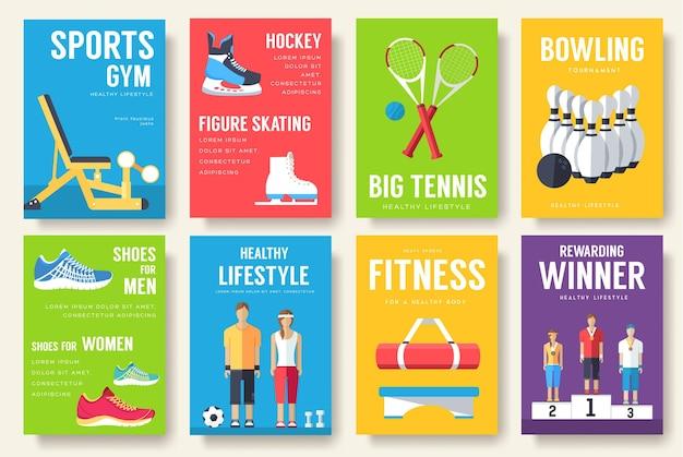 Zestaw sportowych kart informacyjnych