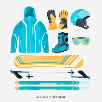 Zestaw sprzętu sportowego zimowego