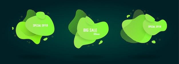 Zestaw sprzedaż szablon transparent, super sprzedaż i oferta specjalna.
