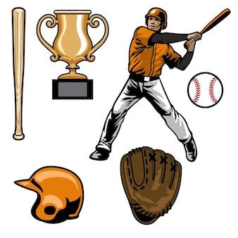 Zestaw sprzętu do baseballu