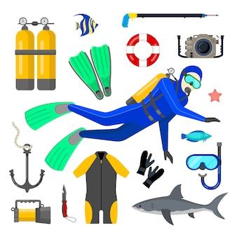 Zestaw sprzętu do nurkowania