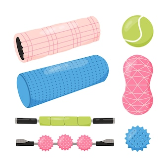 Zestaw sprzętu do treningu rozluźniania mięśniowo-powięziowego