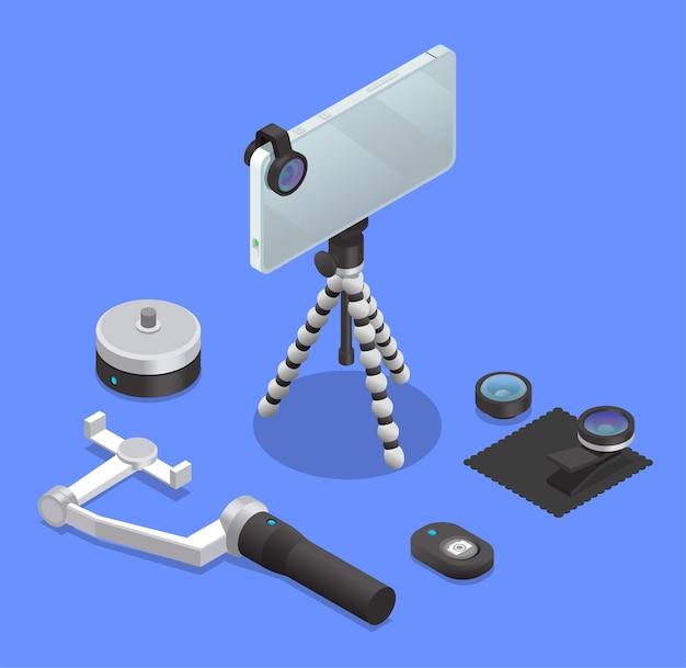 Zestaw sprzętu foto i wideo do telefonu komórkowego