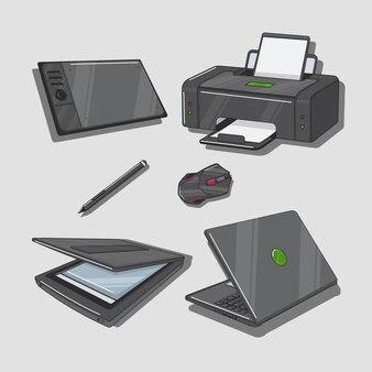 Zestaw sprzętu komputerowego dla projektantów