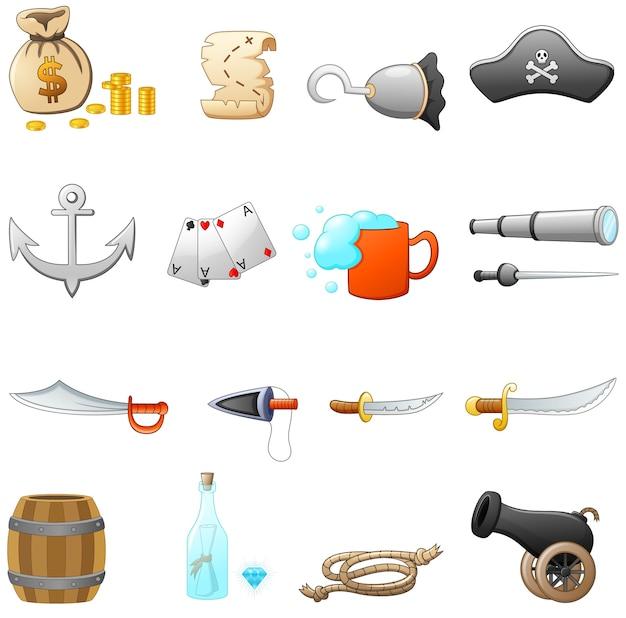 Zestaw sprzętu piratów