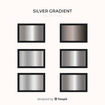 Zestaw srebrny gradient metaliczny tekstury