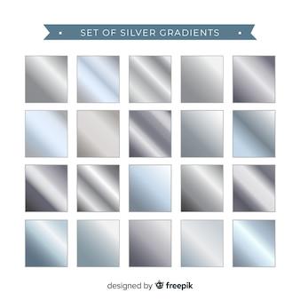 Zestaw srebrny gradient